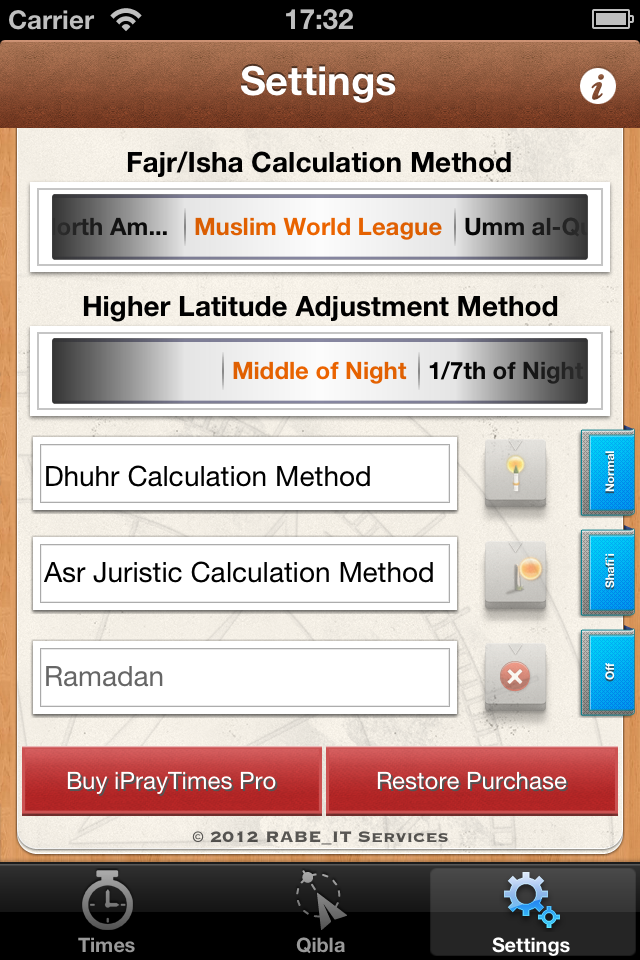 iPrayTimes – A prayer times calculator for iPhone – RABE_IT Services